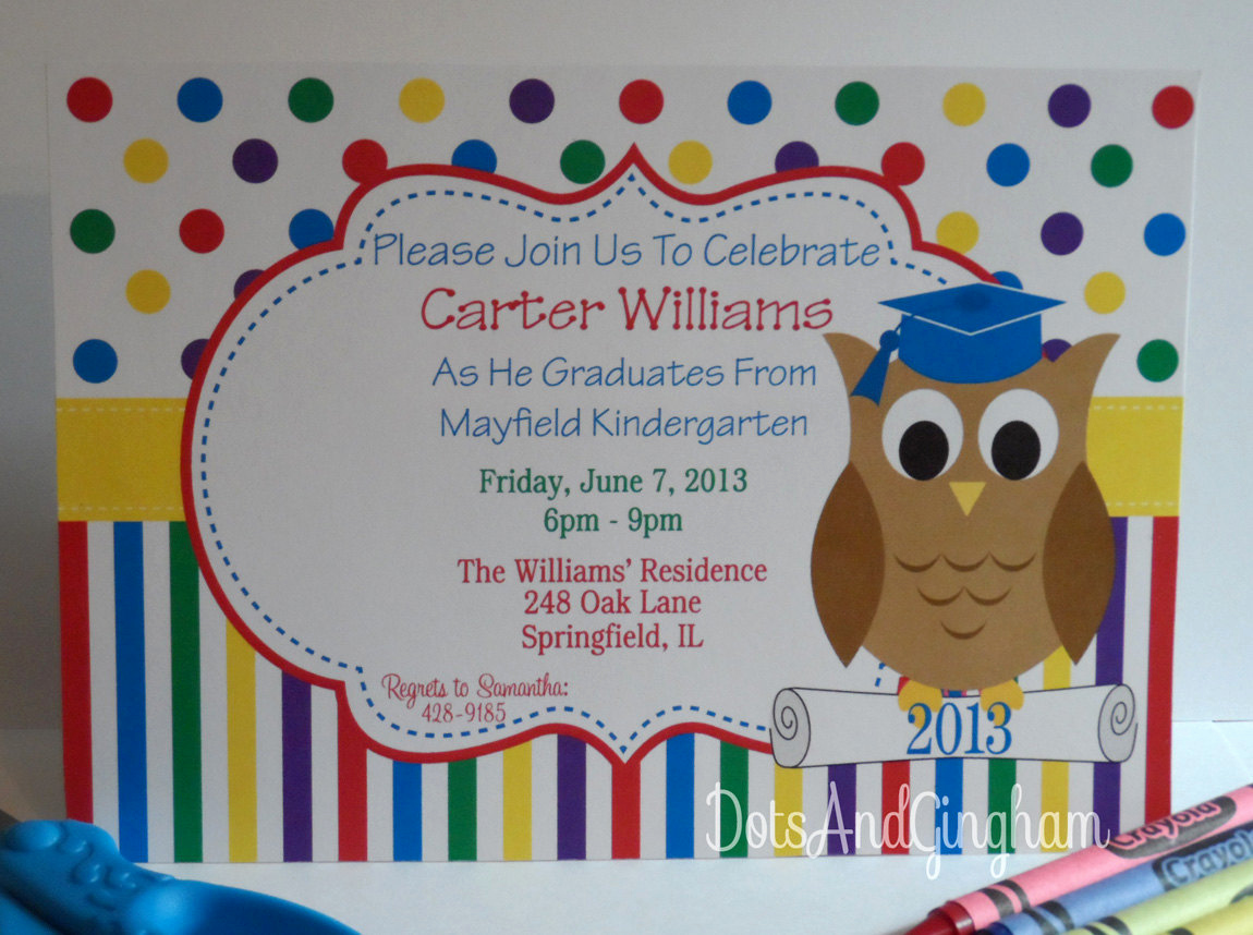 Preschool Graduation Invitation Template Beautiful Graduation Invitation Kindergarten Graduation by