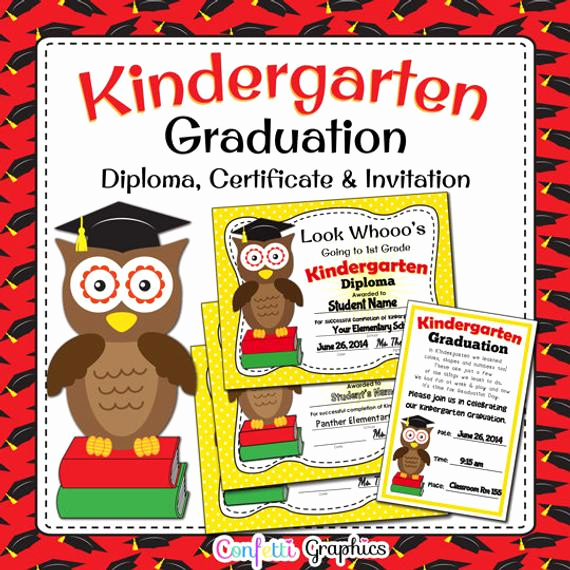 Preschool Graduation Invitation Template Best Of Kindergarten Graduation Diploma Certificate and Invitation