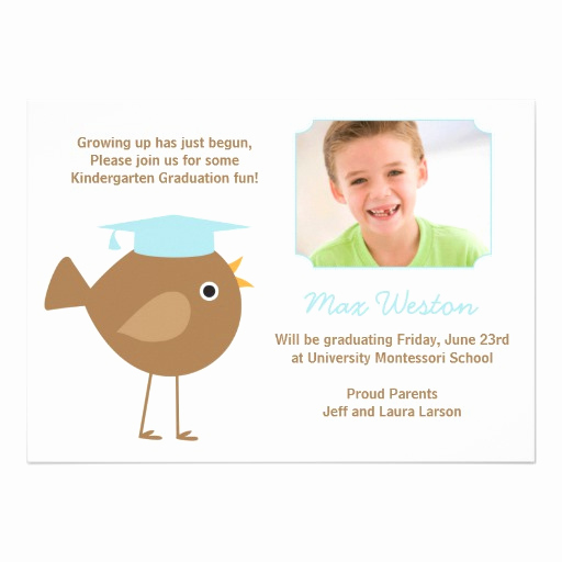"Preschool Graduation Invitation Template Best Of Kindergarten Graduation Invitation 5"" X 7"" Invitation Card"