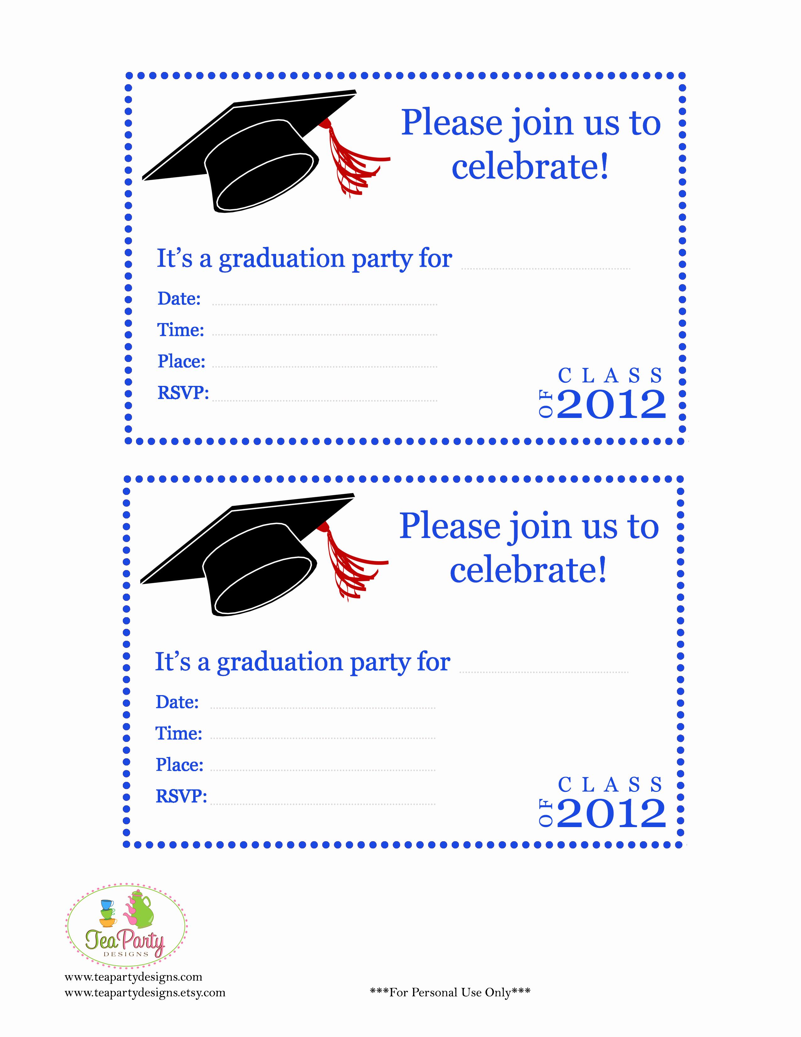 Preschool Graduation Invitation Template Elegant Free Preschool Graduation Invitations
