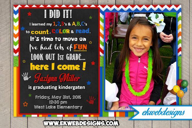 Preschool Graduation Invitation Wording Lovely Custom Kindergarten Graduation Invitations