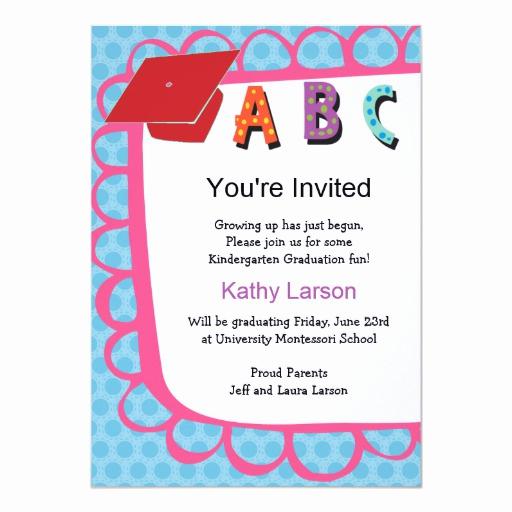 Preschool Graduation Invitation Wording Lovely Kindergarten Graduation Invitation