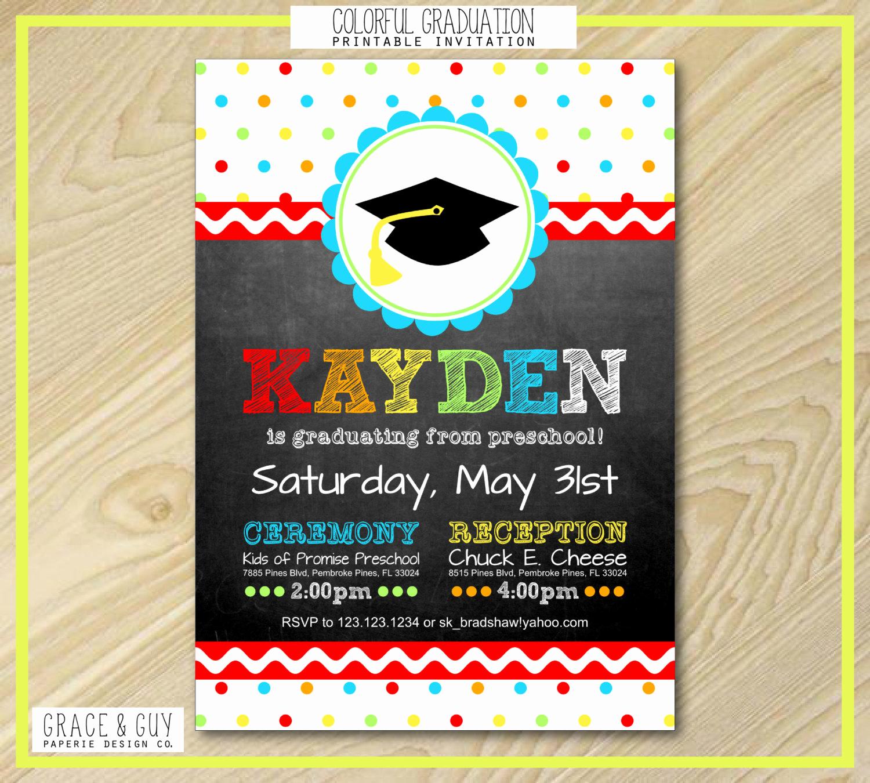graduation invitation preschool