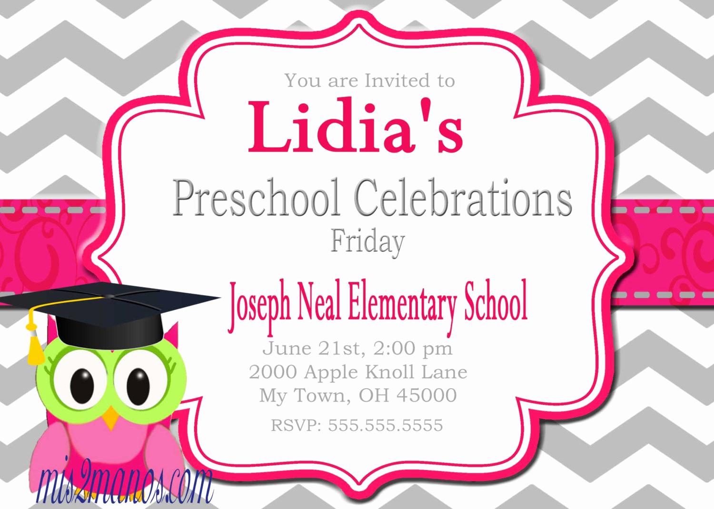 Preschool Graduation Invitation Wording Unique Graduation Invitation Preschool Kinder Diy Printable Party