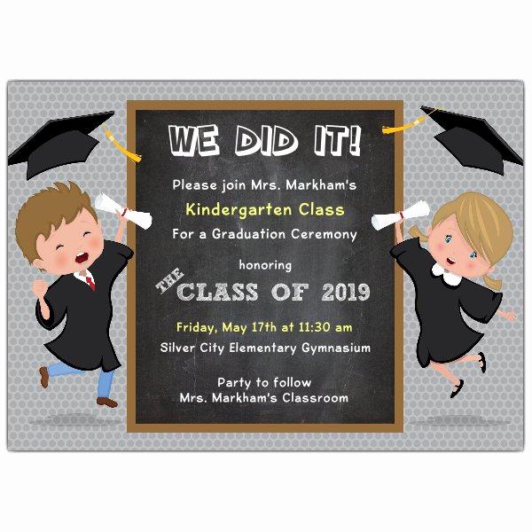 Preschool Graduation Invitation Wording Unique We Did It Kids Graduation Invitations