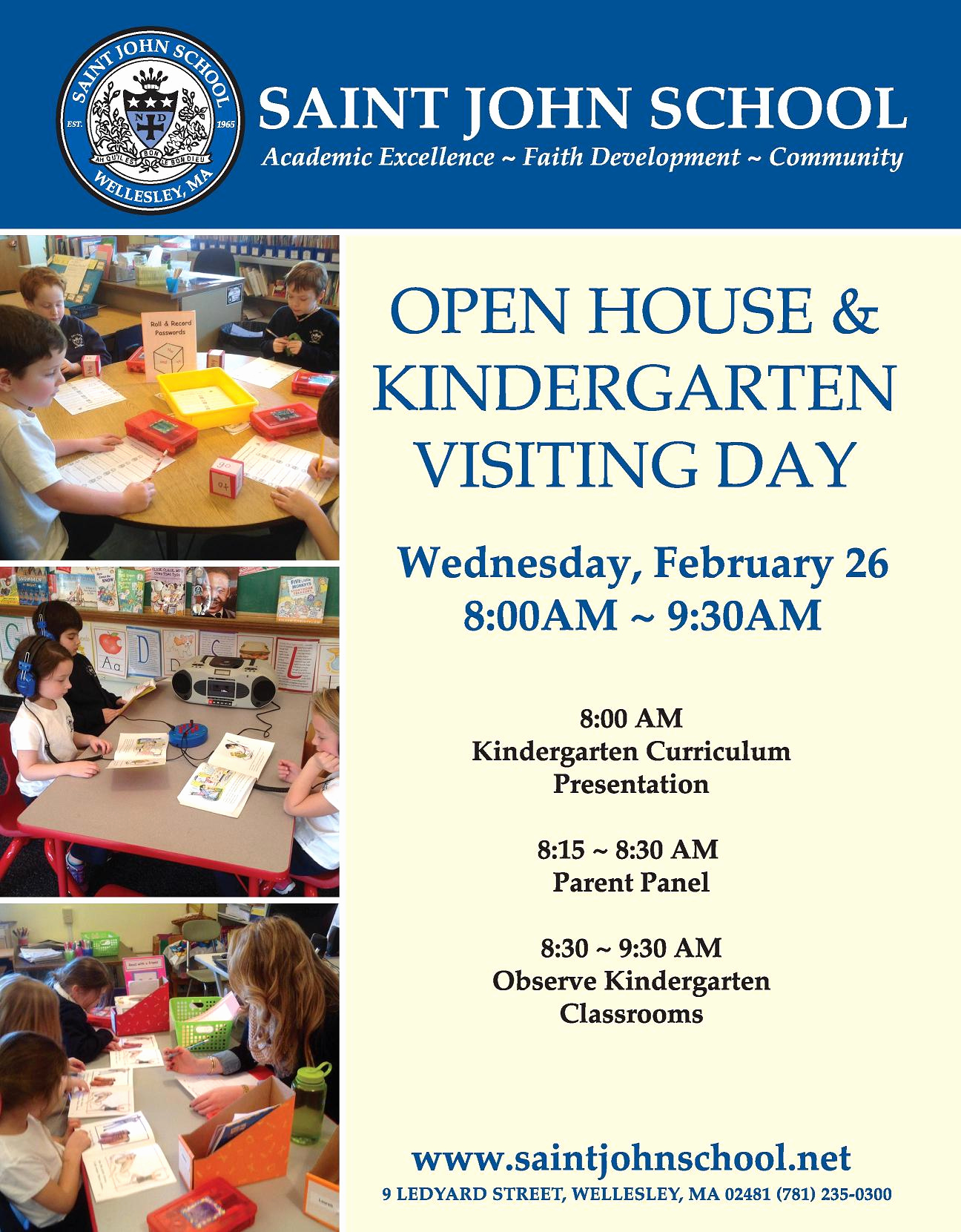 Preschool Open House Invitation Awesome Kindergarten Visiting Day Open House Flyer