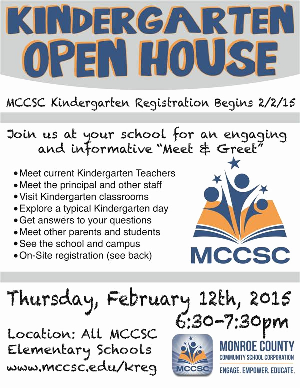 Preschool Open House Invitation Lovely Monroe County Munity School Corporation Homepage