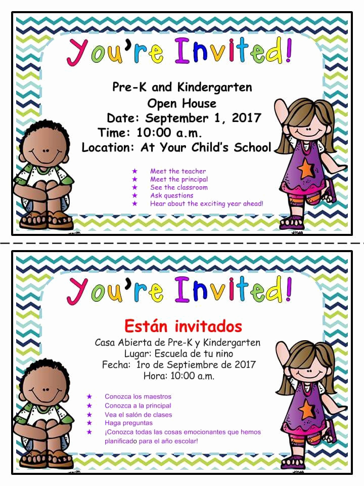 Preschool Open House Invitation Unique Prek and Kindergarten Open House Sept 1st – Holyoke