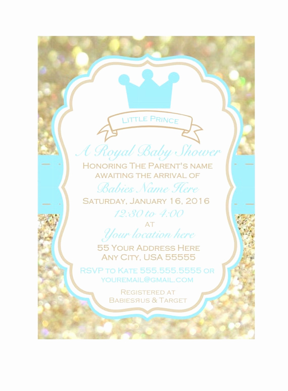 Prince Baby Shower Invitation Templates Beautiful Little Prince Baby Shower Invitation Printable Baby Shower