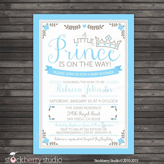 Prince Baby Shower Invitation Templates Beautiful Prince Baby Shower Invitation Printable Royal Prince Baby