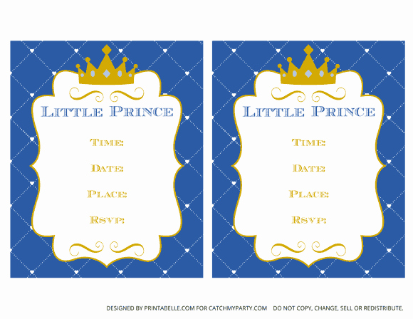 Prince Baby Shower Invitation Templates Best Of Free Prince Party Printables
