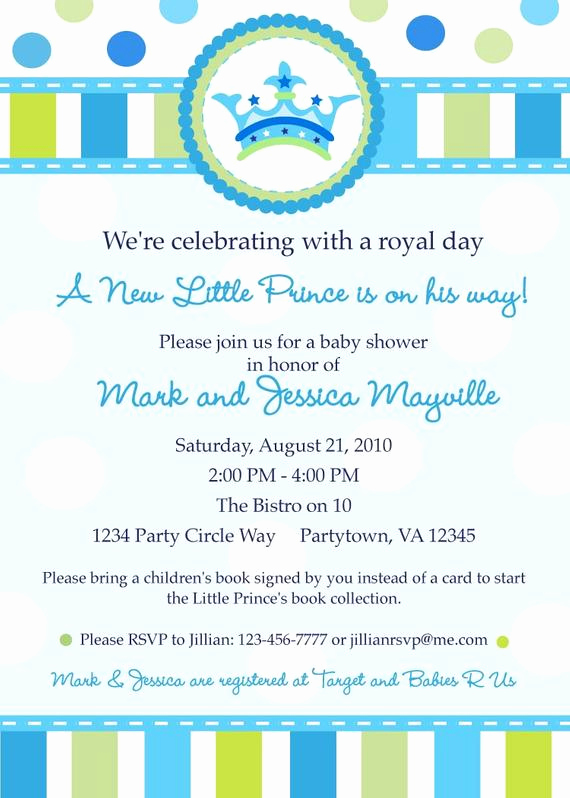 Prince Baby Shower Invitation Templates Best Of Little Prince Baby Shower Invitation Digital by Inkberrycards