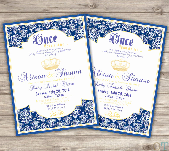 Prince Baby Shower Invitation Templates Best Of Prince themed Baby Shower Invitations