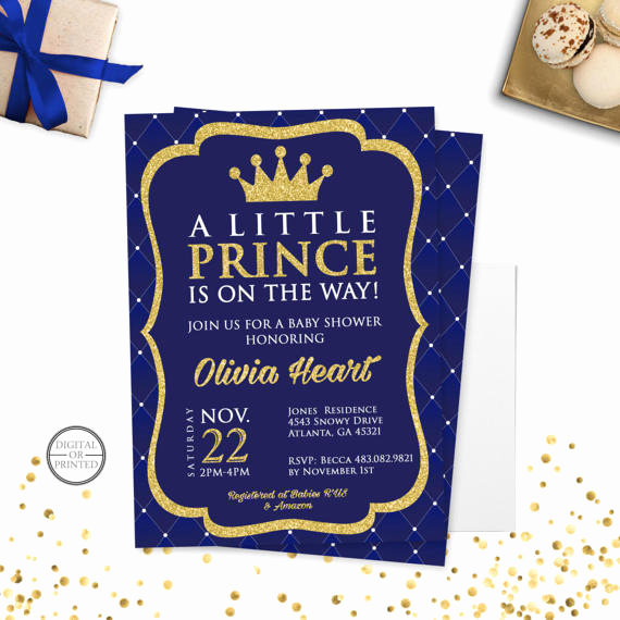 Prince Baby Shower Invitation Templates Elegant Prince Baby Shower Invitation Royal Prince Baby Shower
