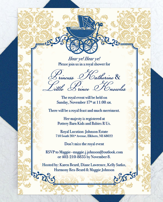 Prince Baby Shower Invitation Templates Lovely Baby Shower Invitation Pdf Custom Printable Royal Baby