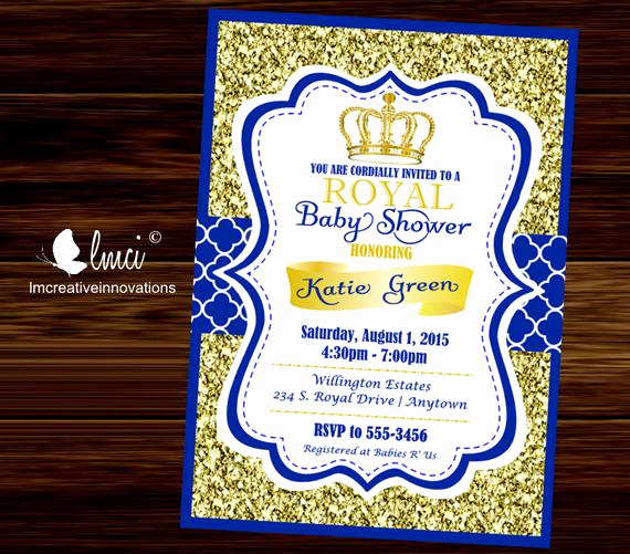 Prince Baby Shower Invitation Templates New Royal Baby Shower Invitation Little Prince Baby Showerblue