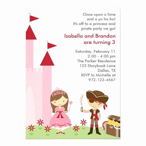 Princess and Pirate Invitation Awesome Pirate and Princess Party Invitation Free