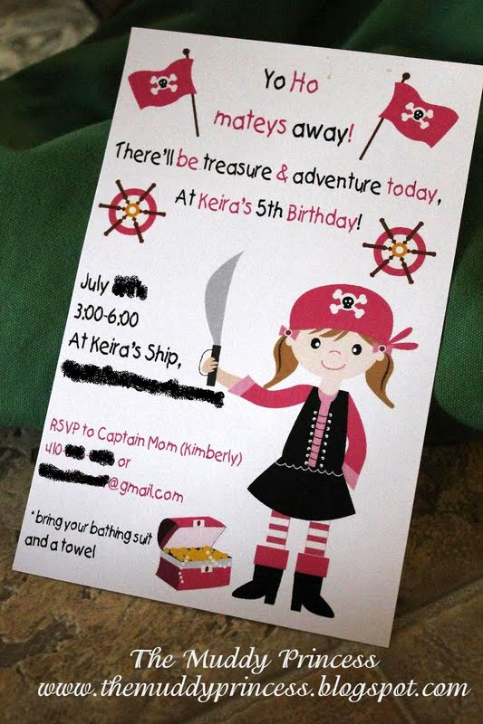 Princess and Pirate Invitation Inspirational the Muddy Princess Pirate Princess Birthday Party