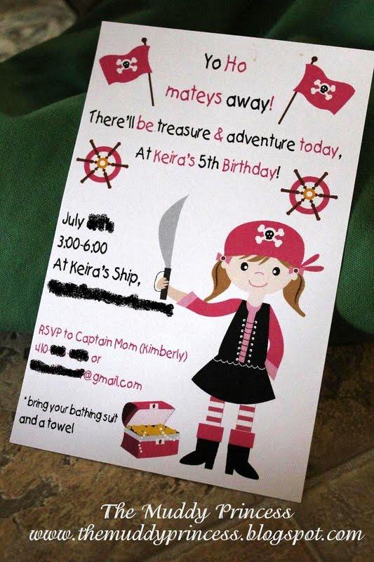 Princess and Pirate Invitation Inspirational the Muddy Princess Pirate Princess Birthday Party