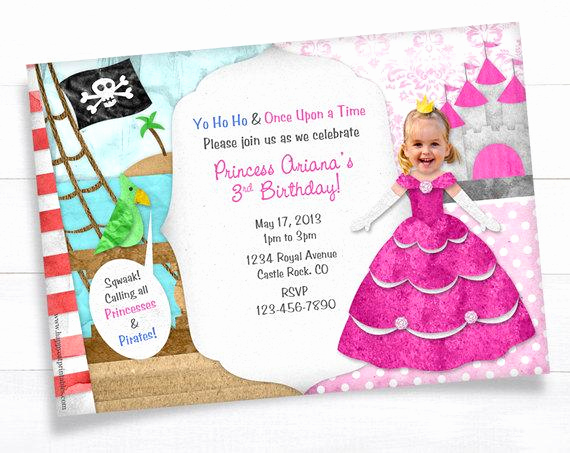 Princess and Pirate Invitation Lovely Unavailable Listing On Etsy