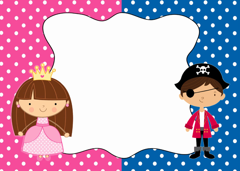 Princess and Pirate Invitation New 30 Cards Pirate Princess Blank Invitations Thank You Note