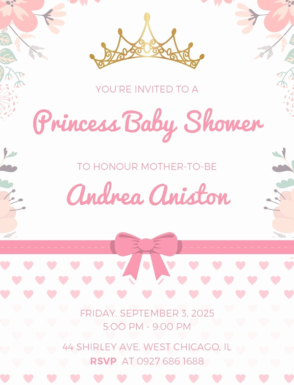 Princess Baby Shower Invitation Awesome 48 Baby Shower Invitations Designs Psd Ai