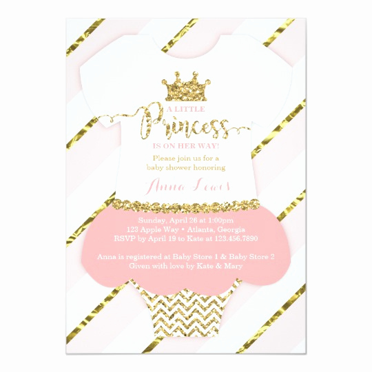 Princess Baby Shower Invitation Best Of Little Princess Baby Shower Invite Faux Glitter Card