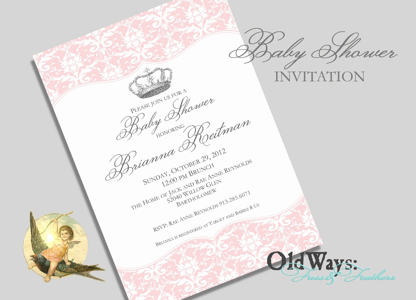 Princess Baby Shower Invitation Elegant Princess Baby Shower Invitation for A Girl by