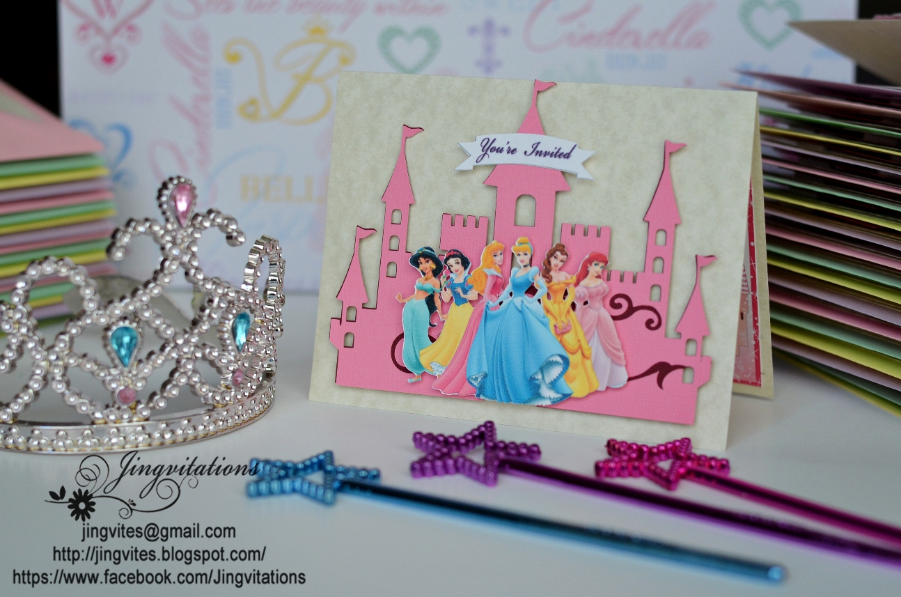 Princess Baby Shower Invitation Elegant Princess Castle Birthday or Baby Shower Invitations