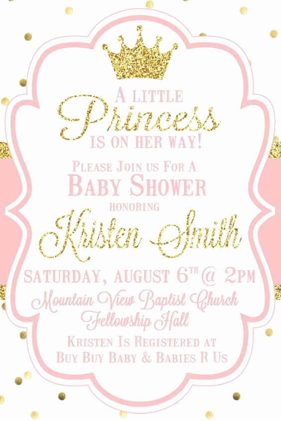 Princess Baby Shower Invitation Elegant top 10 Baby Shower Invitations original for Boys and Girls