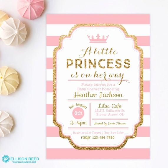 Princess Baby Shower Invitation Fresh Princess Baby Shower Invitation Pink and Gold Baby Shower