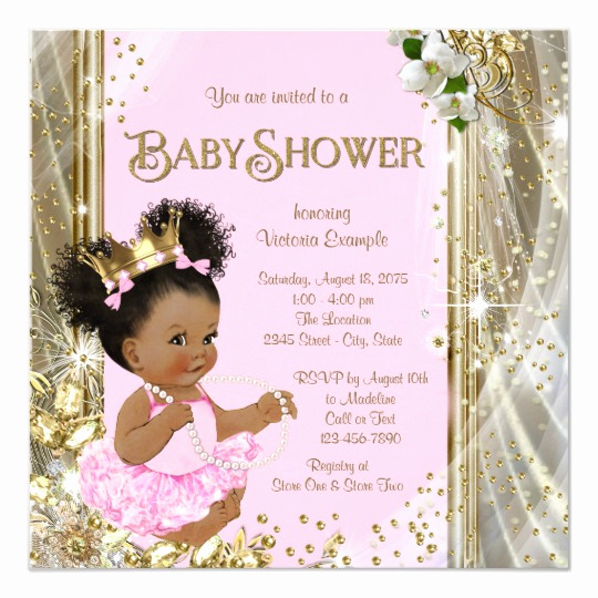 Princess Baby Shower Invitation Inspirational African American Princess Baby Shower Invitations