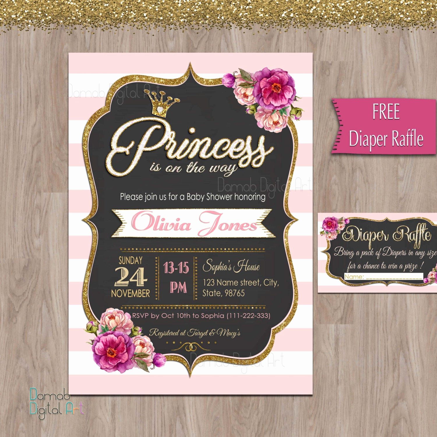 Princess Baby Shower Invitation Lovely Baby Shower Invitation Princess Princess Baby Shower