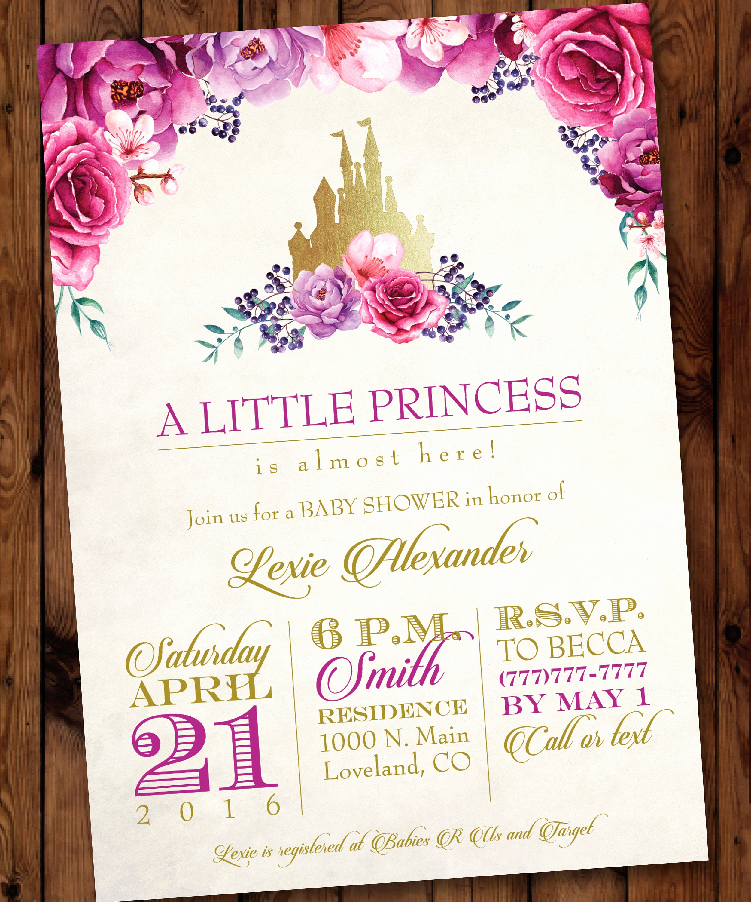 Princess Baby Shower Invitation Luxury Princess Baby Shower Invitation Little Princess