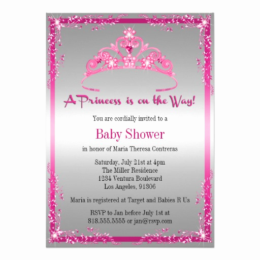 Princess Baby Shower Invitation New Princess Baby Shower Invitation