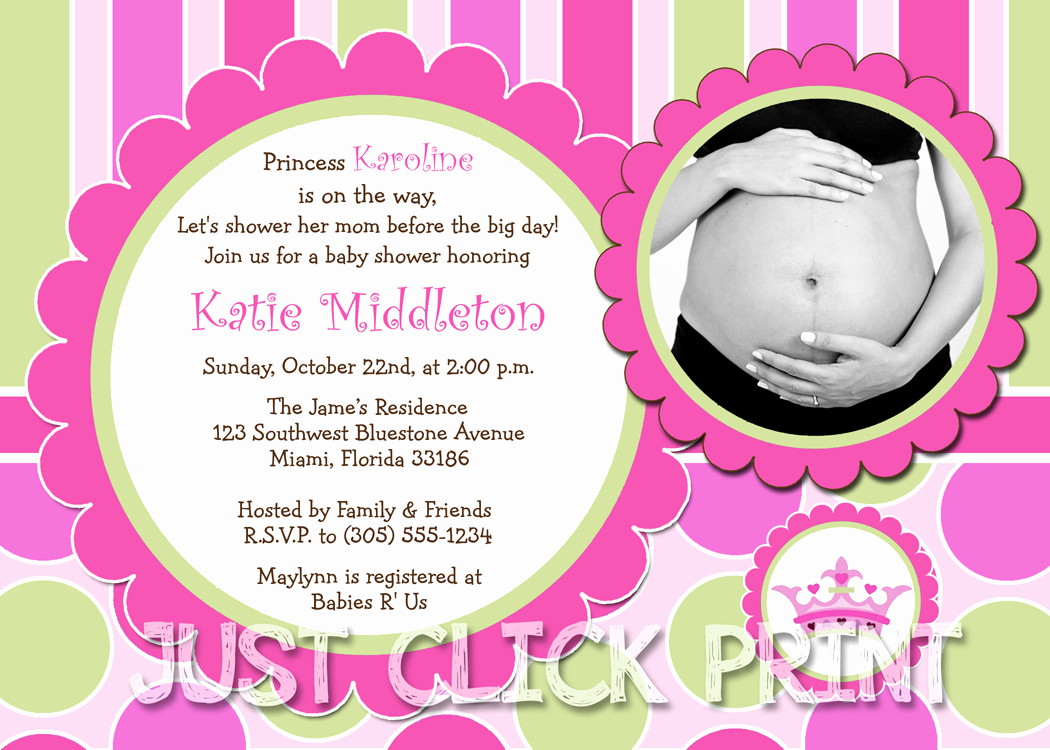 Princess Baby Shower Invitation Unique Little Princess Baby Girl Shower Invitation Printable