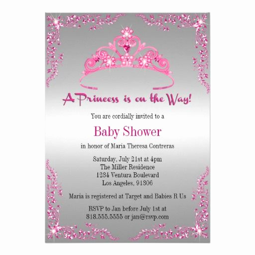 Princess Baby Shower Invitation Unique Princess Baby Shower Invitation