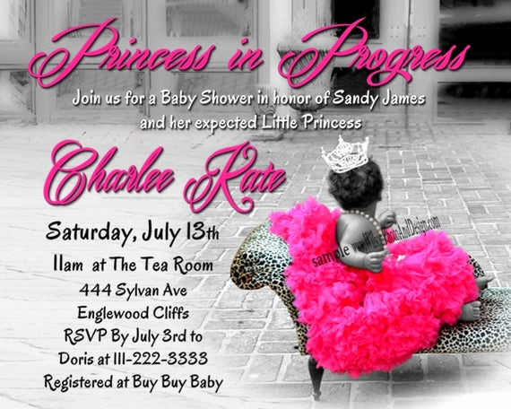 Princess Baby Shower Invitation Wording Awesome Items Similar to Princess Tutu and Leopard Baby Shower
