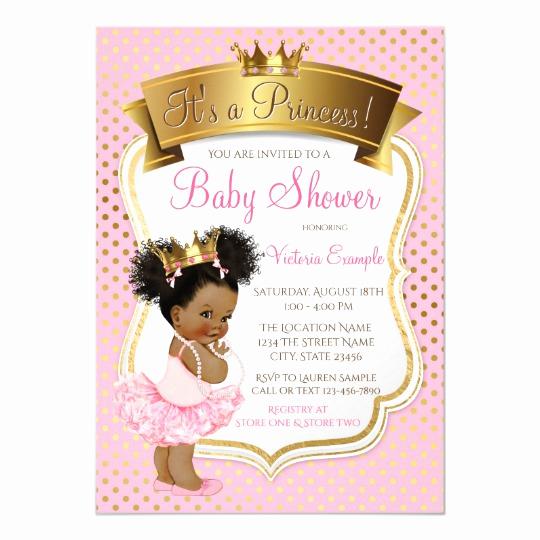 Princess Baby Shower Invitation Wording Elegant African American Princess Baby Shower Invitations