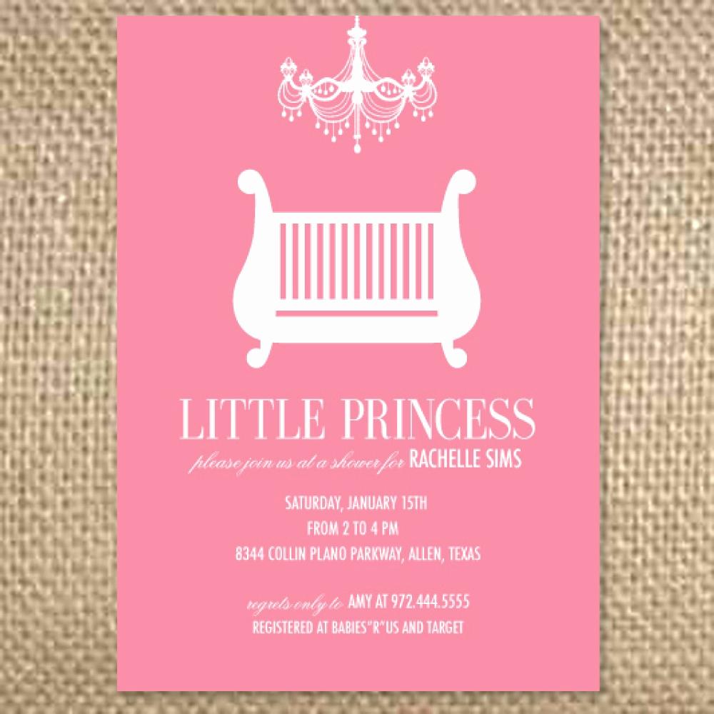 Princess Baby Shower Invitation Wording Inspirational Princess Baby Shower Invitation Templates