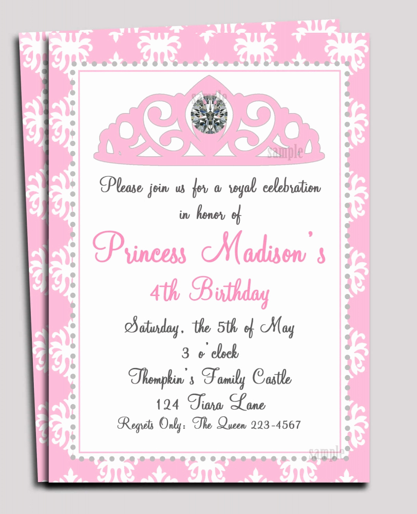 Princess Baby Shower Invitation Wording Lovely Princess Baby Shower Invitations Templates