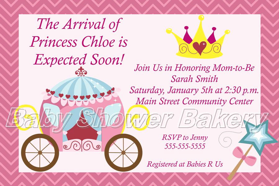 Princess Baby Shower Invitation Wording Luxury Disney Princess Baby Shower Invitations Party Xyz