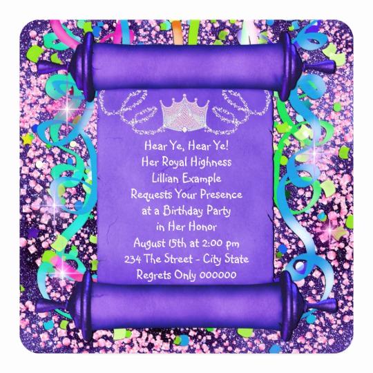 Princess Party Invitation Ideas Beautiful Princess Party Invitations & Announcements