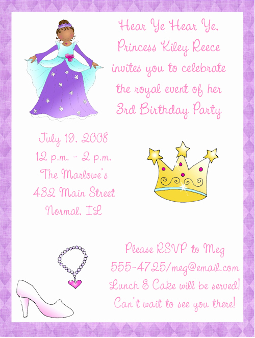 Princess Party Invitation Ideas Fresh African American Birthday Invitations Ideas – Bagvania
