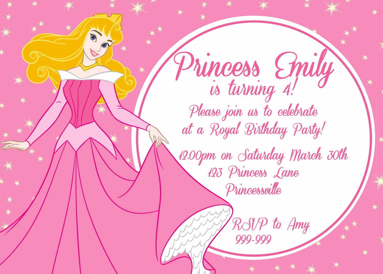 Princess Party Invitation Ideas Fresh Princess Aurora Birthday Party Google Search