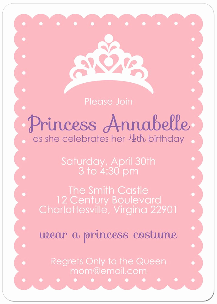 Princess Party Invitation Ideas Inspirational Princess Party Invite Party Party Party