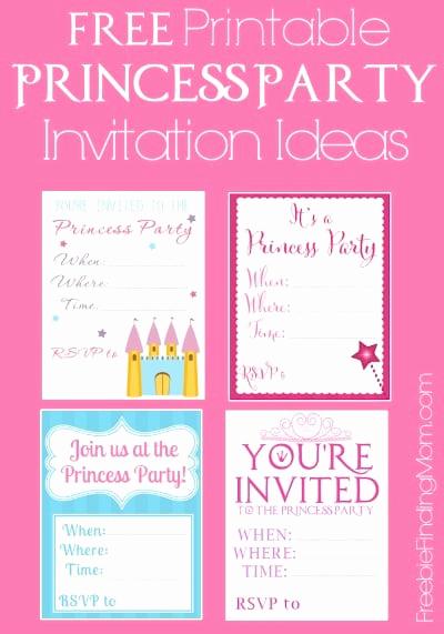 Princess Party Invitation Ideas New Free Printable Princess Party Invitations Seriously