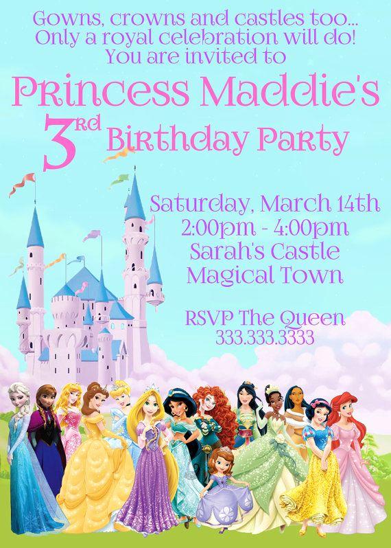 Princess Party Invitation Ideas Unique 25 Best Ideas About Disney Princess Party On Pinterest