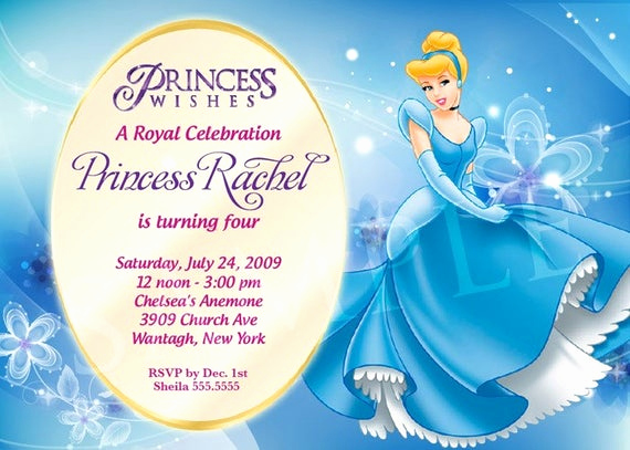 Princess Party Invitation Template Awesome Items Similar to Princess Birthday Invitation Template