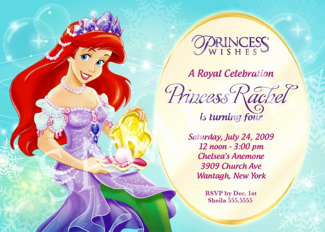 Princess Party Invitation Template Awesome Princess Birthday Invitation Template